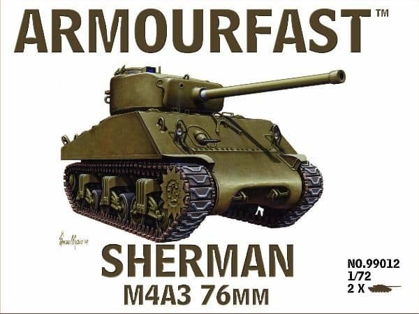 Armourfast 1/72 M4A3 Sherman 76mm # 99012