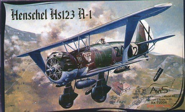 Avis 1/72 Henschel Hs 123A-1 # BX72004