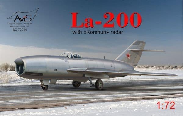 """Avis 1/72 Lavochkin La-200 with """"Korshun"""" Radar # 72014"""