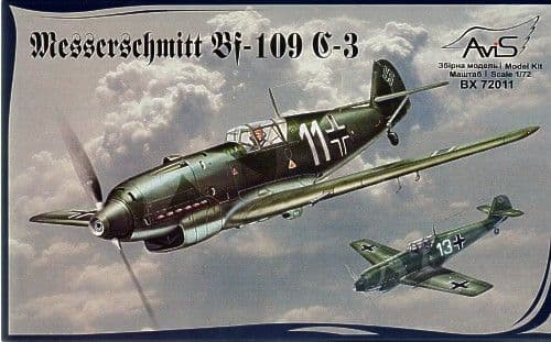 Avis 1/72 Messerschmitt Bf 109 C-3 # 72011