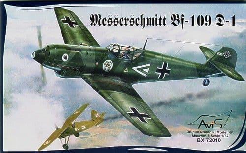 Avis 1/72 Messerschmitt Bf 109 D-1 # 72010