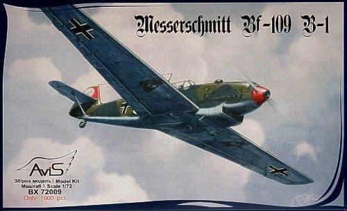 Avis 1/72 Messerschmitt Bf109B-1 # 72009