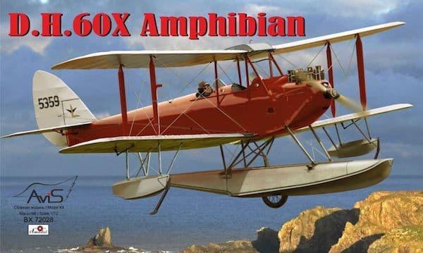 Avis 1/72 de Havilland DH-60X Amphibian # BX72028