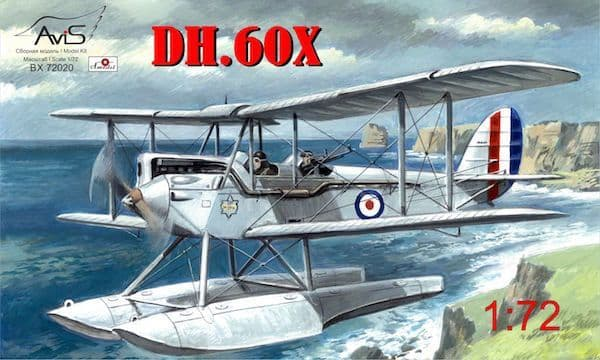 Avis 1/72 de Havilland DH.60X RAF Gipsy Moth Coupe Float Plane #