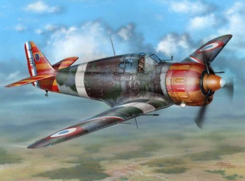 Azur 1/32 Marcel-Bloch MB.152C1 'Red & Yellow Stripes' # 9432