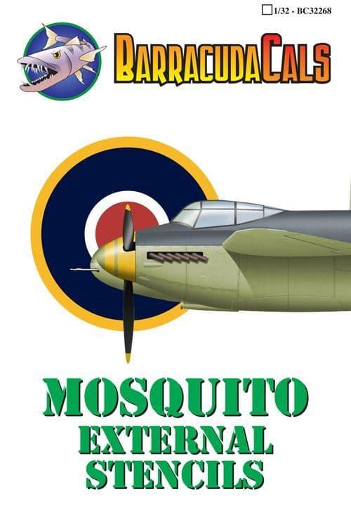 Barracuda 1/32 de Havilland Mosquito External Stencils # 32268