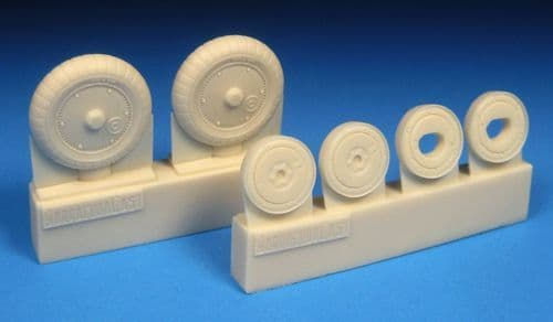 Barracuda 1/48 Messerschmitt Bf-109G-5 to Bf-109G-14 Ribbed Main Tyres & Separate Ribbed Hubs # 4838