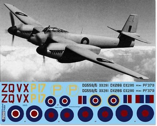 Barracuda Decals 1/48 Westland Welkin Mk.I/II (No Instructions) # 48056
