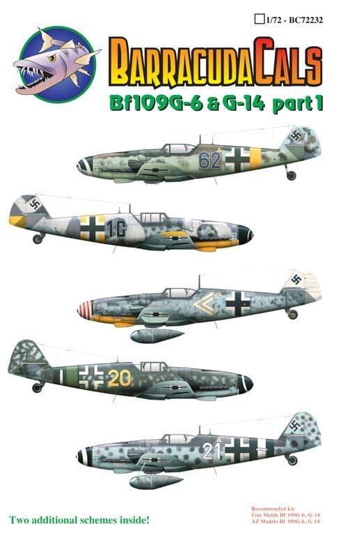 Barracuda Decals 1/72 Messerschmitt Bf-109G-6 and G-14 Part 1 # 72232