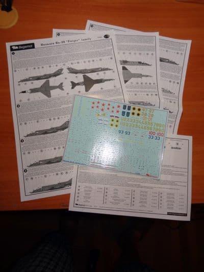 "Begemot 1/72 Yakovlev Yak-38 ""Forger"" Family with Stencils # 7250"