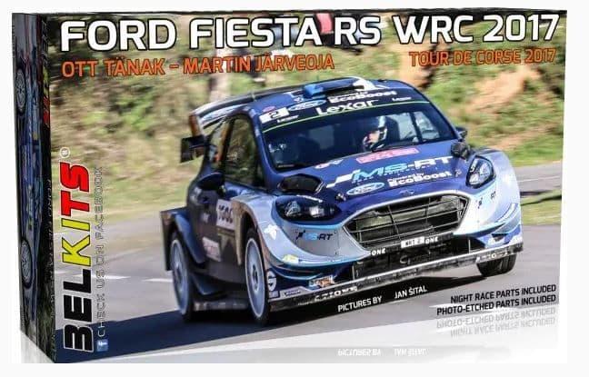 Belkits 1/24 Ford Fiesta RS WRC 2017 - Tour De Corse 2017 Ott Tanak - Martin Jarveoja # BEL-013