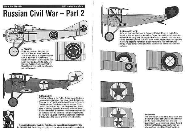 Blue Rider 1/48 Russian Civil War 1917-22 Part 2 # 524