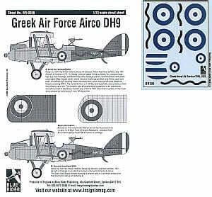 Blue Rider 1/72 Airco DH.9 in Greek Air Force Service # 306