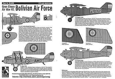 Blue Rider 1/72 Bolivian Air Force Gran Chaco War Part 2 # 255