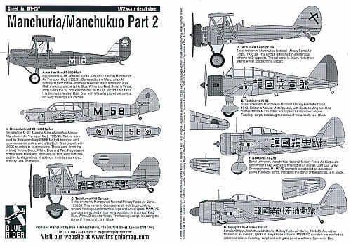 Blue Rider 1/72 Manchurua/Manchukuo Part 2 # 257