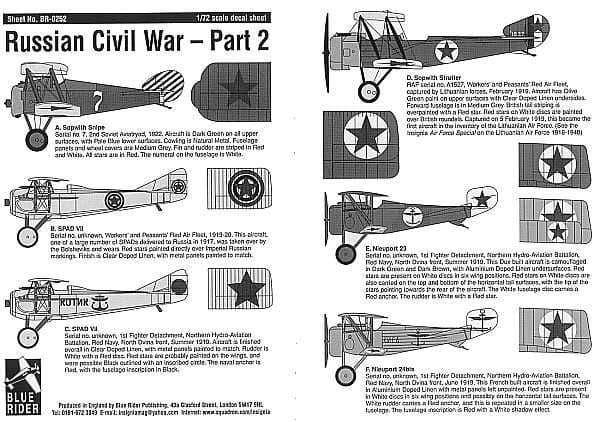 Blue Rider 1/72 Russian Civil War 1917-22 Part 2 # 252