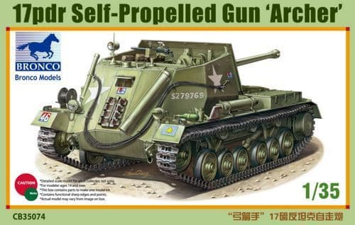 Bronco 1/35 17pdr Self-Propelled Gun 'Archer' # CB35074
