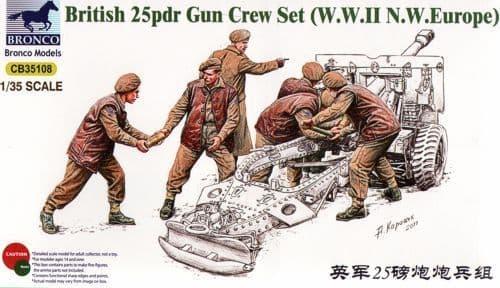Bronco 1/35 British 25 Pdr Gun Crew Set (WWII NW Europe) # 35108