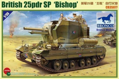 Bronco 1/35 British 25pdr SP 'Bishop' # CB35077