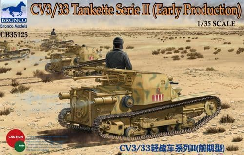 Bronco 1/35 CV3/33 Tankette Series II Early Production # CB35125