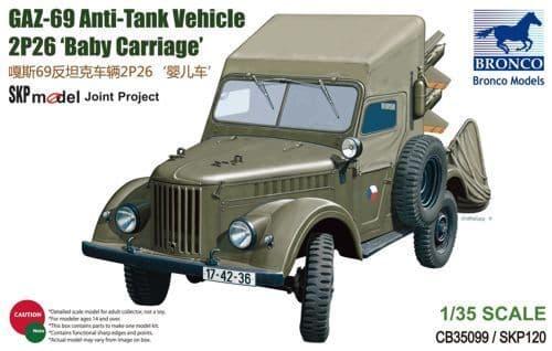 Bronco 1/35 GAZ-69 Anti-Tank Vehicle 2P26 'Baby Carriage' # CB35099