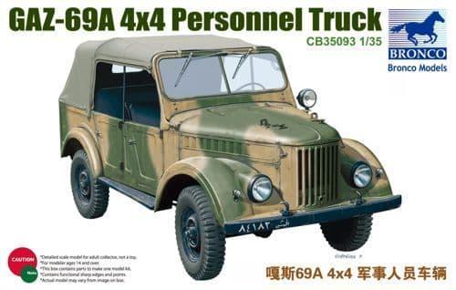 Bronco 1/35 GAZ-69A x4x Personnel Truck # CB35093