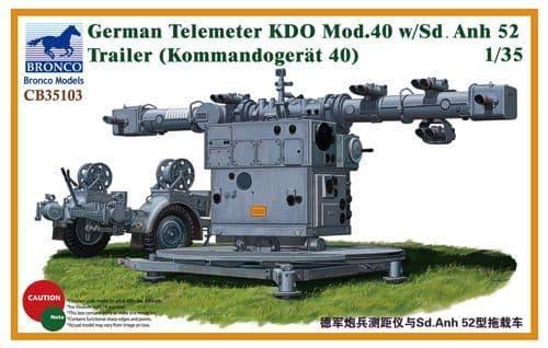 Bronco 1/35 German Telemeter KDO Mod.40 w/Sd.Anh 52 Trailer (Kommandogerat 40) # CB35103