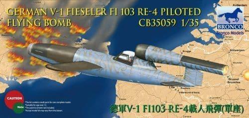 Bronco 1/35 German V-1 Fieseler FI103 RE-4 Piloted Flying Bomb # CB35059