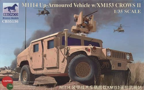 Bronco 1/35 M1114 Up-Armoured Vehicle with XM153 CROWS II # CB35136