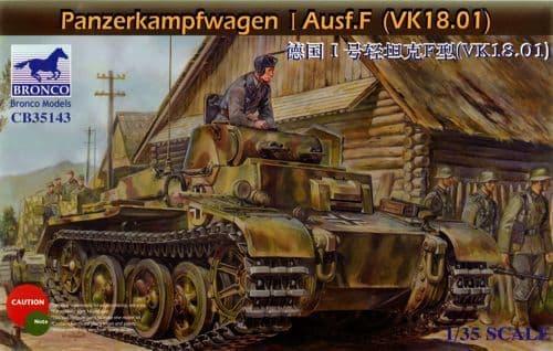 Bronco 1/35 Panzerkampfwagen I Ausf.F (VK18.01) # CB35143
