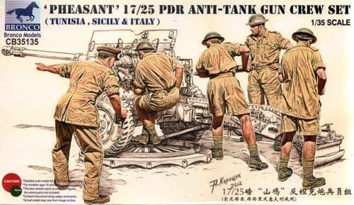 Bronco 1/35 'Pheasant' 17/25pdr Anti-Tank Gun Crew Set # CB35135