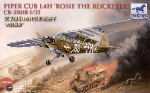 Bronco 1/35 Piper Cub L4H 'Rosie the Rocketeer' # CB35018