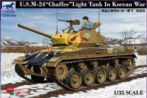 "Bronco 1/35 U.S. M24 ""Chaffee"" Light Tank in Korean War # CB35139"