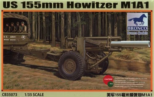 Bronco 1/35 US 155mm Howitzer M1A1 # CB35073