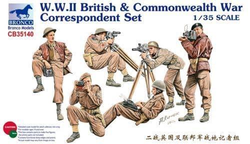 Bronco 1/35 WWII British & Commonwealth War Correspondent Set # CB35140
