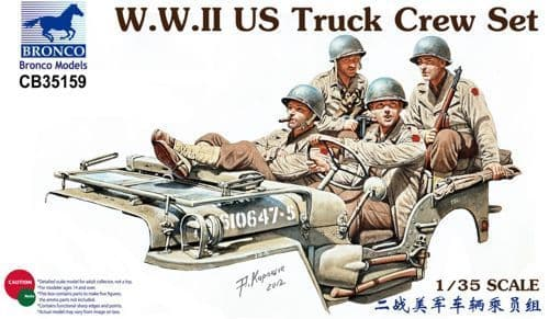 Bronco 1/35 WWII US Truck Crew Set # CB35159