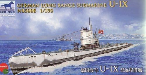 Bronco 1/350 German Long Range Submarine U-IX # NB5008