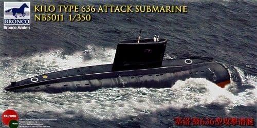 Bronco 1/350 Kilo Type 636 Attack Submarine # NB5011