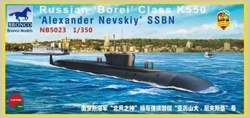 Bronco 1/350 Russian 'Borei' Class K550 'Alexander Nevskiy' SSBN # NB5023