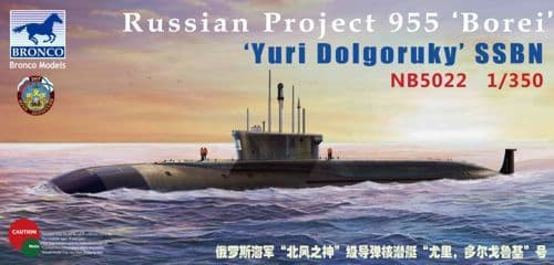 Bronco 1/350 Russian Project 955 'Borei' 'Yuri Dolgoruky' SSBN # NB5022