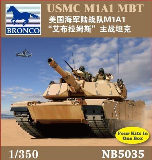 Bronco 1/350 USMC M1A1 MBT # NB5035