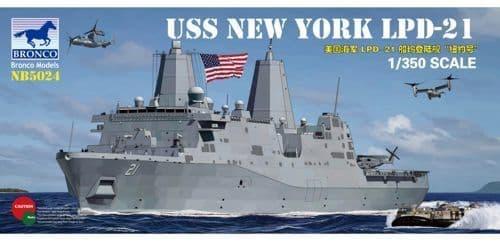 Bronco 1/350 USS New York LDP-21 # NB5024