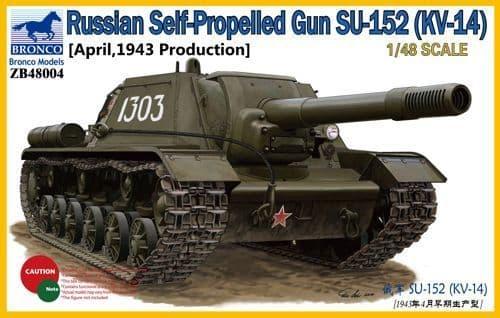 Bronco 1/48 Russian Self-Propelled Gun SU-152 (KV-14) April 1943