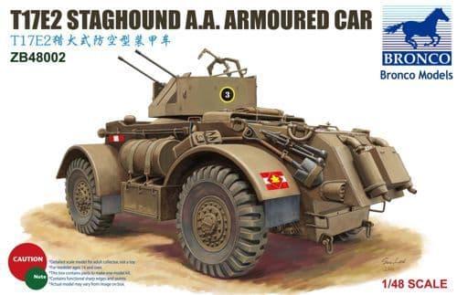 Bronco 1/48 T17E2 Staghound A.A. Armoured Car # ZB48002