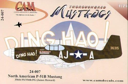 CAM 1/24 North-American P-51B Mustang # 24007