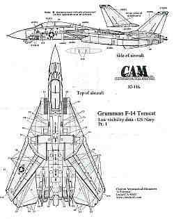 CAM 1/32 Grumman F-14 Tomcat Low Visibility Data # 32116