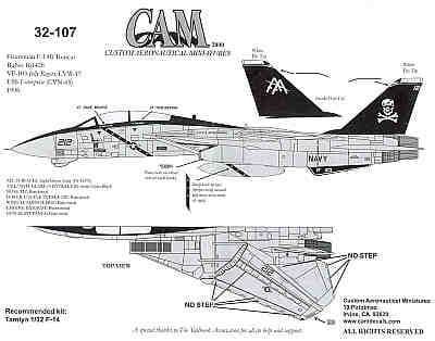CAM 1/32 Grumman F-14B Tomcat # 32107