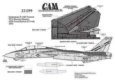 CAM 1/32 Grumman F-14D Tomcat # 32099