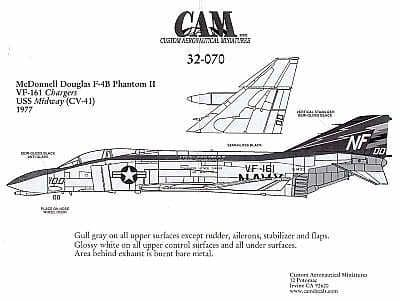 CAM 1/32 McDonnell F-4B Phantom # 32070