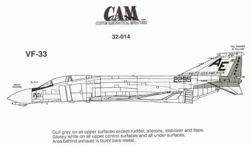 CAM 1/32 McDonnell F-4J Phantom # 32014